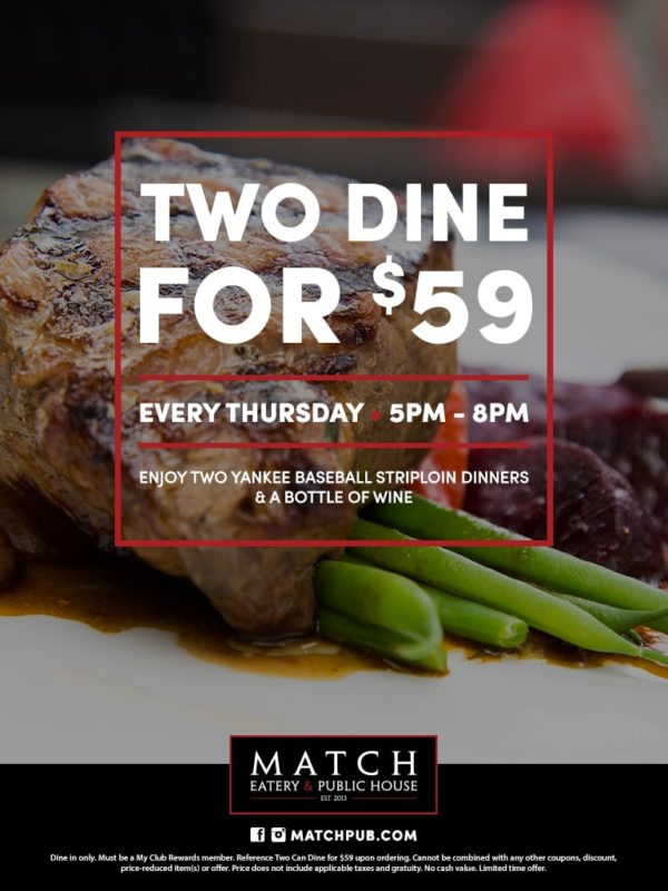 Two Dine for $59 at Match